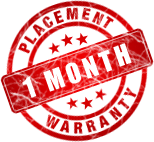 Placement warranty - 2 months